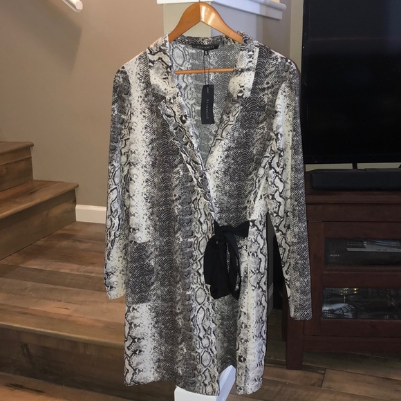 Dynamite Dresses & Skirts - Snake skin fabric blazer dress